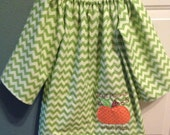 Fall Pumpkin boutique peasant dress Cutest pumpkin in the patch sz 3 month-7 years