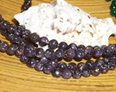 A Grade Lepidolite gemstone beads- (6mm round)-  full strand