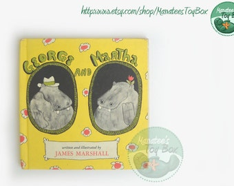 George and Martha: Two Hippo Friends Hardcover Book by James Marshall