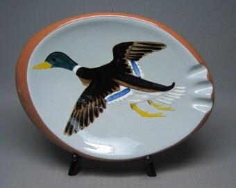 vintage STANGL pottery DUCK ashtray hand painted