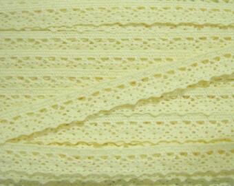 5 yards Light Yellow Crochet Lace Trim, Lace Trim, Crochet Lace Trim, Cotton Lace Trim, Lace Trim Ribbon, Yellow lace, Yellow lace trim