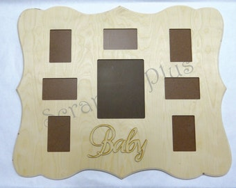 Multi 7 Opening Picture Frame Story Board 7 4x6 5x7