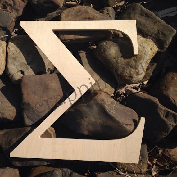 6 Inch Greek Wooden Letters Unfinished Alpha Omega Delta
