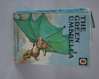 The Green Umbrella Notebook handmade from a vintage ladybird book