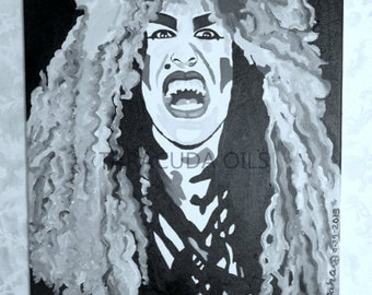 DEE SNIDER of Twisted Sister Hand Painted Oil Painting 16 x 20 Canvas