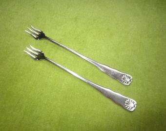 Silverplate Appetizer or Lobster Forks (2)