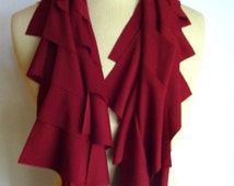 Brick Red Layered T-shirt Scarf.  Perfect accessory for any season...