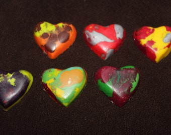 Recycled Crayons. Heart Crayons. Kids Crayons. Party Favors. Mini Heart Crayons. Valentine Crayons. Crayons. Rainbow Crayons.