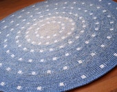 Cute spotted round rug, hand crocheted from a quality wool, various dimensions available