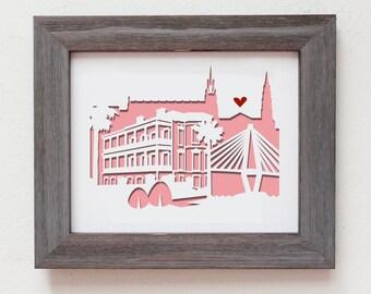 Charleston, South Carolina - Personalized Gift or Wedding Gift