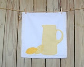 Dish Towel, Lemonade Tea Towel, A Pitcher Dish Towel