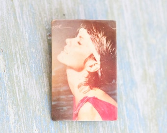 Olivia Newton John - Physical - Eighties Badge or Brooch