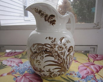Vintage English Ironstone Pitcher