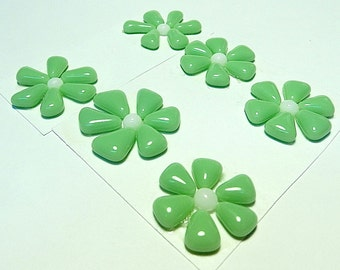 Glass Flowers For Mosaics, Jewelry, Magnets or other Embellishments 6 Flowers  (P208)