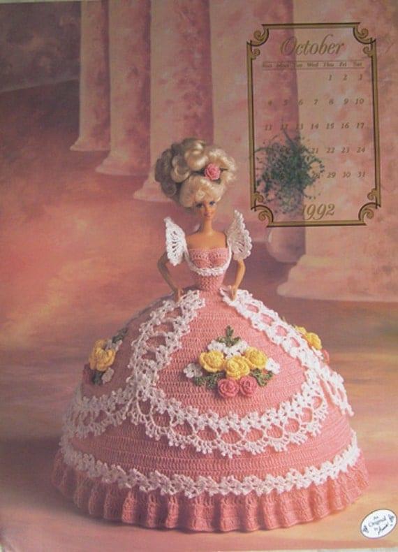 Crochet bed doll pattern october 1992 cotillion barbie doll dress