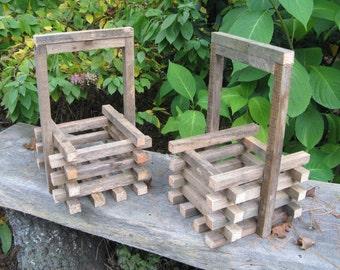 HOLIDAY/DECORATIVE BASKET - Flower Basket - Christmas Basket - Gravesite Basket - Reclaimed wood - Wood basket - Wooden Basket - Home Decor