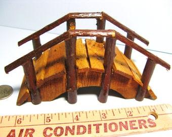 FAIRY GARDEN BRIDGE - Miniature wooden bridge - Foot bridge