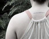 this too shall pass - temporary tattoo