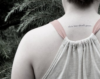 this too shall pass - temporary tattoo