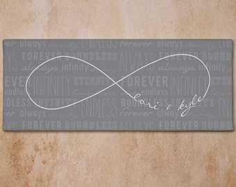 Personalized Infinity Symbol Wall Canvas - 9173219