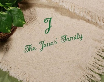 Personalized Family Name Afghan