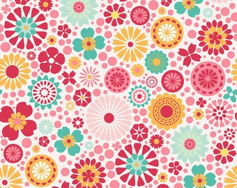 04330 -Deena Rutter for Riley Blake So Happy collection C3230 Main in pink color- 1 yard