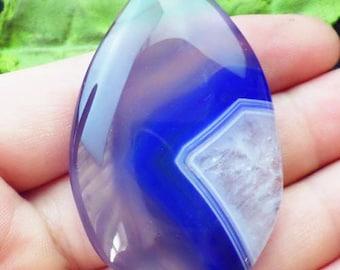 OOAK--Blue Druzy Geode Agate Pendant