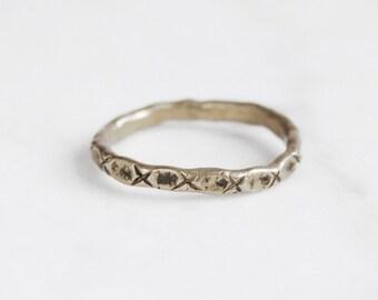 Little x brass ring
