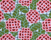 LAMINATED cotton fabric by the yard - Tea Rose by Amy Butler cameo (aka oilcloth, coated vinyl fabric) WIDE BPA free
