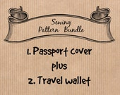 PDF Sewing Pattern Bundle - Passport cover AND Family passport wallet - Sell what you make, DIY gift
