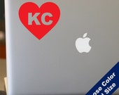 I Heart Kansas City Decal - Love - for Laptop, Car, iPhone