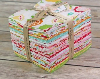 Simply Sweet Fat Quarter Bundle, Lori Whitlock, Riley Blake Designs, Floral Fabric, Girl Fabric, Quilt Bundle, Cotton Fabric Bundle