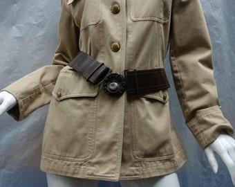 Lauren by RALPH LAUREN 70s Khaki Military Style Jacket Sz6 SALE