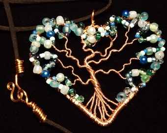 Copper Heart Tree of Life