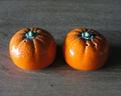 Vintage 1950s Ceramic Novelty Orange Salt and Pepper Shakers