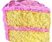 Cake Slice Dessert Frosting - Digital Image - Vintage Art Illustration - Instant Download