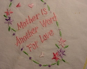 Vintage Mother Handkerchief   Perfect For Mothers Day    764