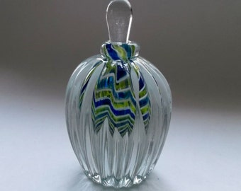 Large Perfume Bottle - Blue Lime Cobalt White : DISASTER RELIEF