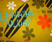 Mens Vintage 1960's Hawaiian Holiday Surf Surfing Shirt - L - The Hana Shirt Co