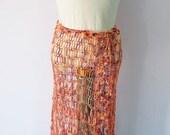 Crochet multi colored  beach cover up / Maxi skirt / Pareo / Beach dress