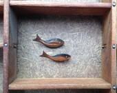 Vintage Modernist Copper Fish Brooch - Retro Scatter Pins - EPSTeam