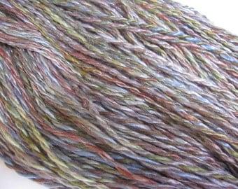 Hand-dyed Handspun 2-ply Vegan Rayon Yarn
