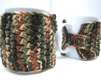 Cup Cozy, Mug Hug, Cup Warmer, Mug Snug Earth-tone Colors