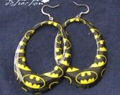 Batman Hoop Earrings FREE shipping