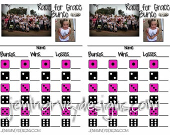Custom Bunco Score Cards