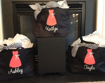 4 Personalized Bride and/or Bridesmaid Tote Bags