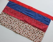 Classroom Apron- Puppy Love (red & blue)