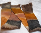 SALE Hand Dyed Self Striping 4ply Sock Knitting or crocheting yarn  'Burnished Copper' Colorway