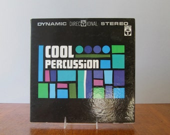 Vintage Album Cover Cool Percussion - Sam Suliman Mid Century Graphic Design