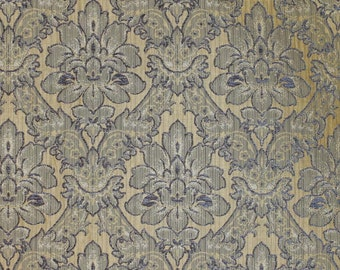 """Cabernet Damask Smoke Chenille Velvet  Upholstery Fabric by the yard 57"""" wide"""